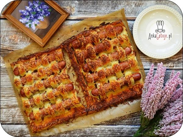 Zapiekanka z ciasta francuskiego